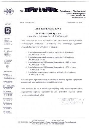 Referencje PW Hutnik