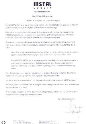 Referencja Instal-Lublin